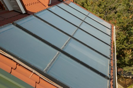 gelio: Alternative energy- solar system on the house roof.