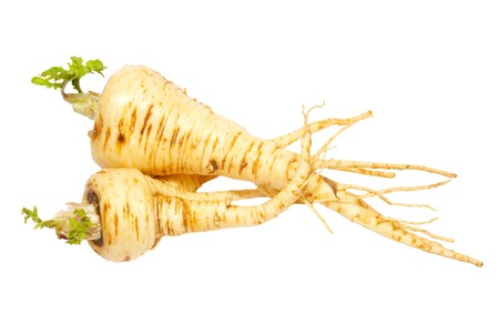 Parsnip isolated on white. photo