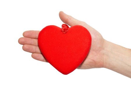 Big valentine heart in a hand. Stock Photo - 4215611