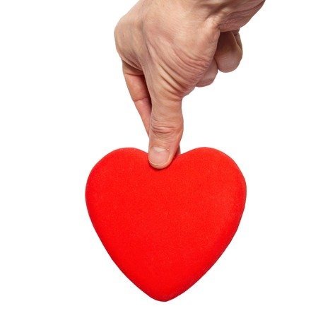 Big valentine heart in a hand. Stock Photo - 4259111