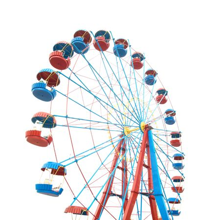 fair play: The Ferris wheel isolated on white background