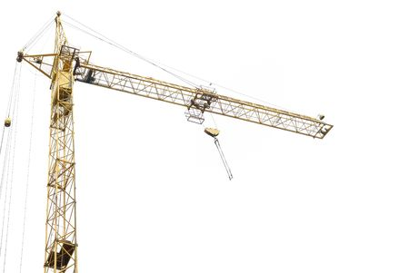 tower crane: Building crane isolated on the white background