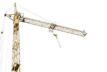 andamios: La construcci�n de gr�as aisladas en el fondo blanco