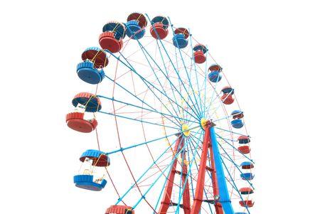 fei�ra: A roda-gigante isolado no fundo branco