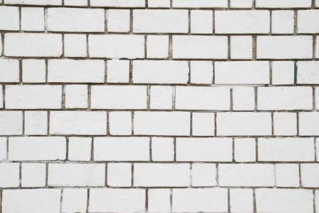 White brick wall can be used for background Stock Photo - 4756989