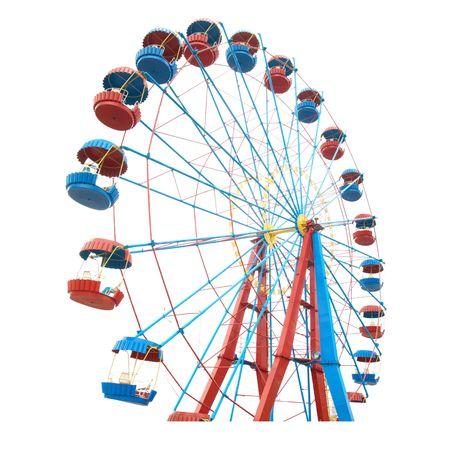 The Ferris wheel isolated on white background photo