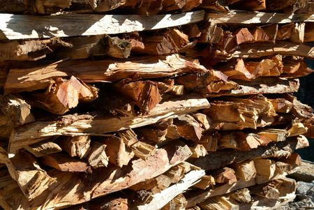 Firewood stack can be used for background Stock Photo - 4908356