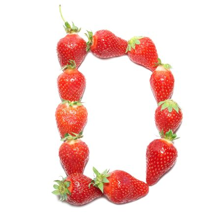 Strawberry health alphabet- letter D photo