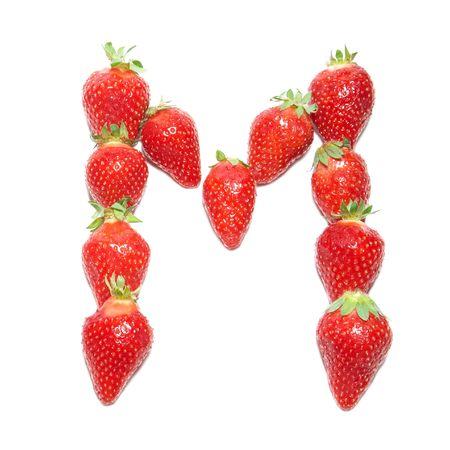 alphabet wallpaper: Strawberry health alphabet- letter M