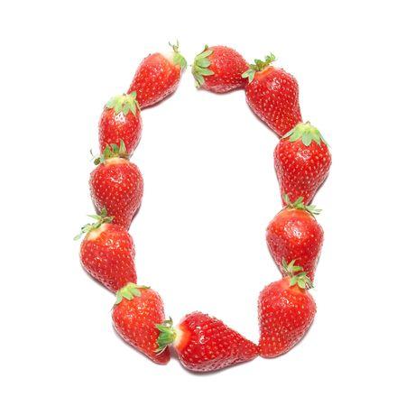 Strawberry health alphabet- letter O photo