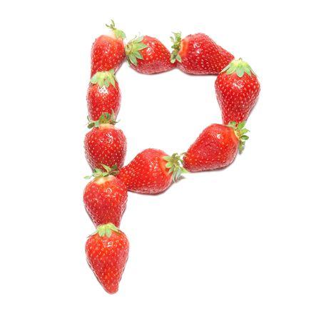 Strawberry health alphabet- letter P photo