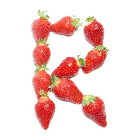 Strawberry health alphabet- letter R photo