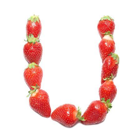 Strawberry health alphabet- letter U photo