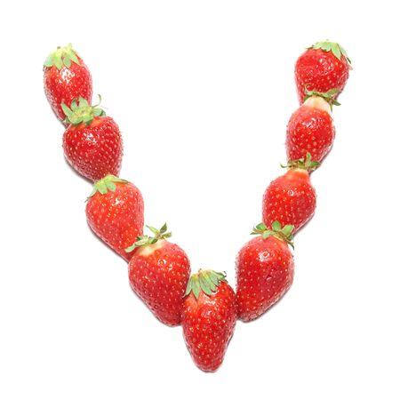 Strawberry health alphabet- letter V photo