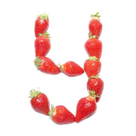 Strawberry health alphabet- letter Y photo