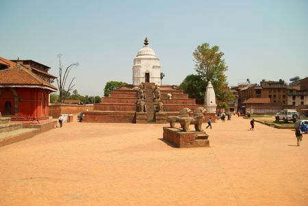 Temple of old buddhistic city. Baktaphur, Nepal Stock Photo - 5515450