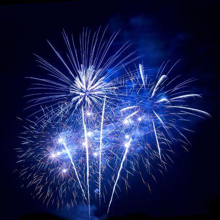 Beautiful fireworks on the black sky background Stock Photo - 5540592