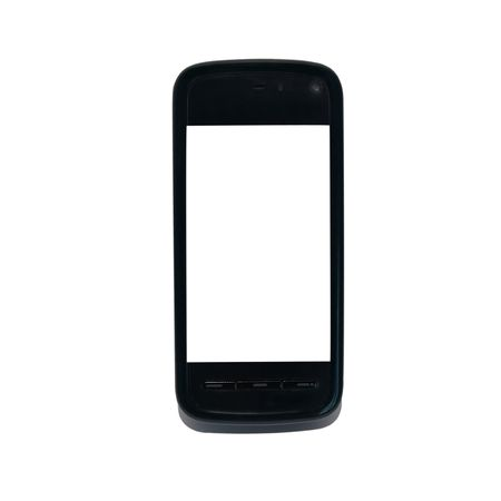 Mobile smart phone with empty screen isolated on white Stock Photo - 5700322