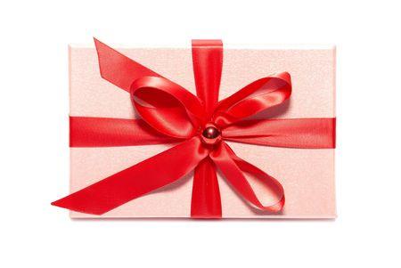 Pink gift box isolated on white background Stock Photo - 5931823
