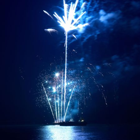 Fireworks, salute with the black sky background Stock Photo - 6007520