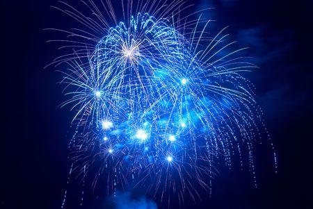 Beautiful fireworks on the black sky background Stock Photo - 6178583