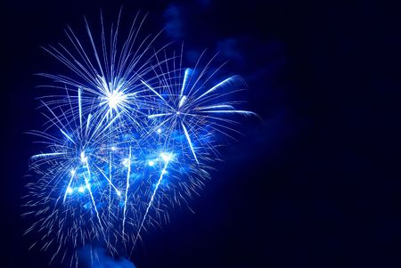 Beautiful fireworks with copyspace left or right. Stock Photo - 6332339