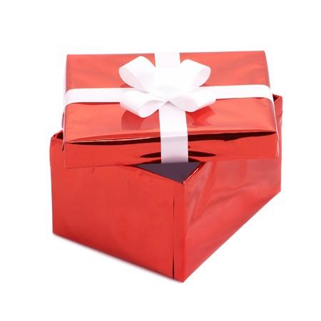 Open gift box isolated on white background Stock Photo - 7140427