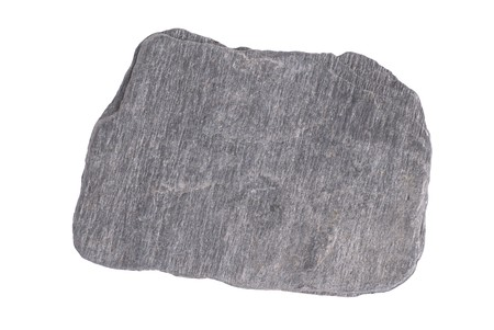 Gray stone isolated on the white background photo