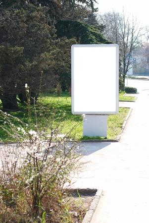 Vertical blank billboard on the city street Stock Photo - 7227076