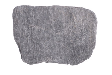 rock stone: Gray stone isolated on the white background Stock Photo