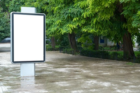 Vertical blank billboard on the city street Stock Photo - 7503009
