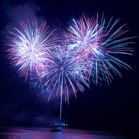 Colorful fireworks on the black sky background Stock Photo - 7704258