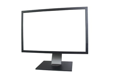 LCD monitor with empty screen isolated on white photo