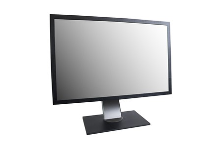 LCD monitor with empty screen isolated on white Stock Photo - 7820239