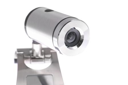 Web camera isolated on the white background photo