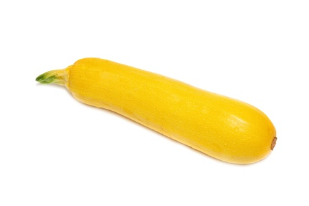 Yellow marrow isolated on the white background photo