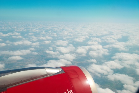 Heaven, sky and clouds. View from the plane Stock Photo - 8422131