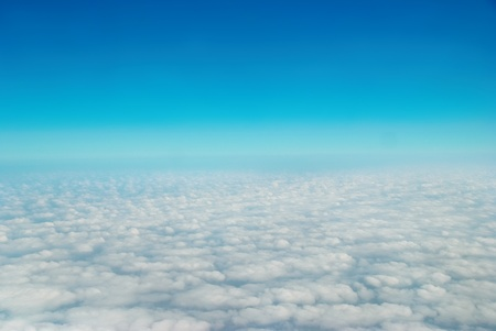 Heaven, sky and clouds. View from the above