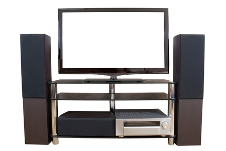 surround system: Home theater isolated on the white background