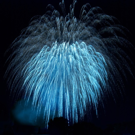 Colorful fireworks on the black sky background Stock Photo - 8830702