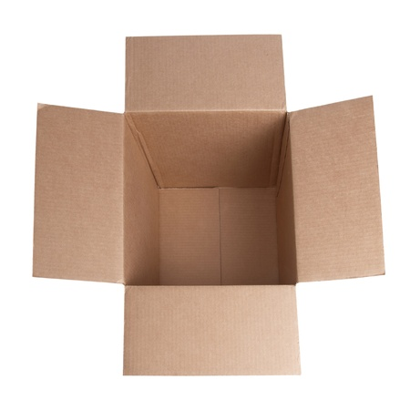 blank box: Open carton box isolated on white background