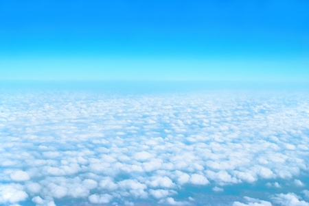 Heaven, sky and clouds. View from the above photo