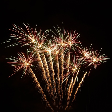 Colorful fireworks on the black sky background Stock Photo - 9160637