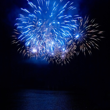 Colorful fireworks on the black sky background Stock Photo - 9342024