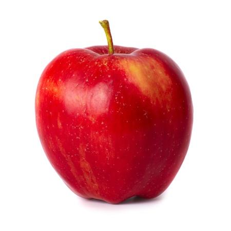 mela rossa: Mela fresca rossa isolato su sfondo bianco