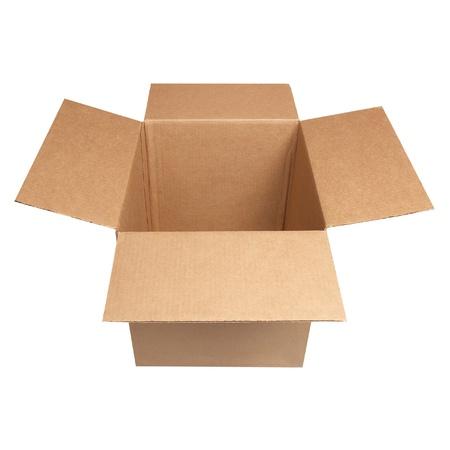 shipping box: Open carton box isolated on white background
