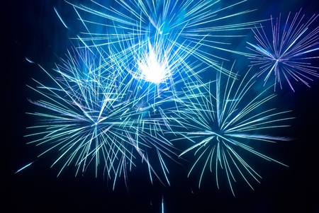 Colorful fireworks on the black sky background Stock Photo - 11154151