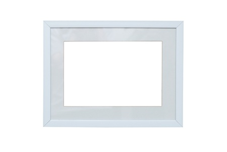 passe: Empty blank isolated photo frame on white background Stock Photo