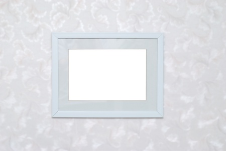 passe: Empty blank white isolated photo frame on wall