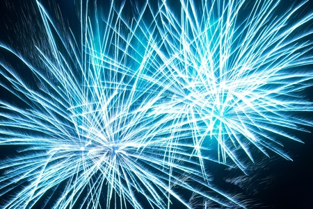 Colorful fireworks on the black sky background Stock Photo - 13029344